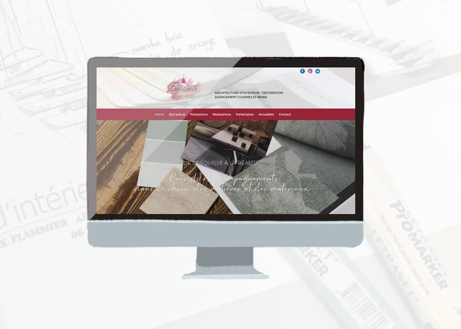 site internet esquisses interieurs